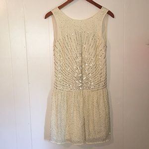 Zara Trafaluc Drop Waist Sequin Dress, M, EUC